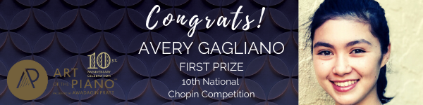 Gagliano Wins US Chopin Competition