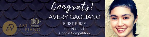 Gagliano Wins US Chopin Competition